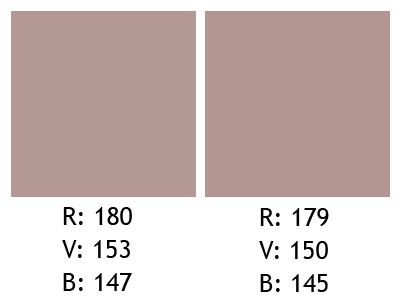 Différences de la moyenne RVB à 5 minutes d'intervalle