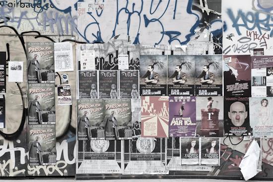 Mur, rue Montmartre, Paris.