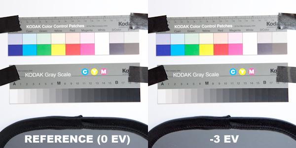 Récupération des basses lumières à -3 EV.