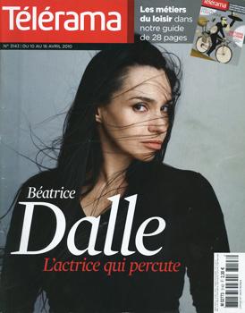 Couverture de Télérama n°3143 avec Béatrice Dalle. Photographie : Patrick Swirc.