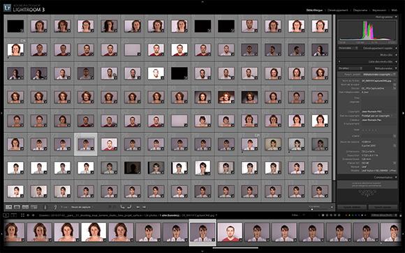 Editing de la séance photo et premières retouches sous Lightroom 3.