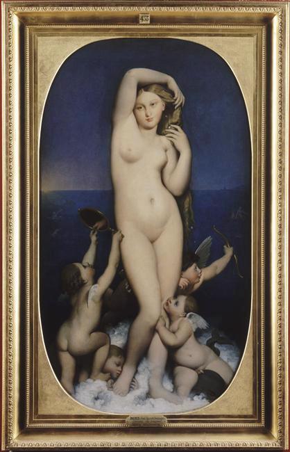 Vénus anadyomène. 1848. Jean-Auguste-Dominique Ingres. Musée Condé.