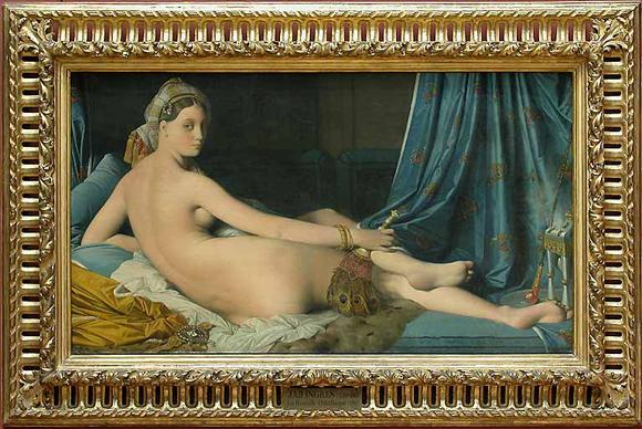 Une Odalisque. 1814. Jean-Auguste-Dominique Ingres. Photo : © Musée du Louvre / A. Dequier - M. Bard.