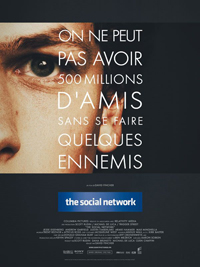 "Affiche du film ""The Social Network"" de David Fincher"