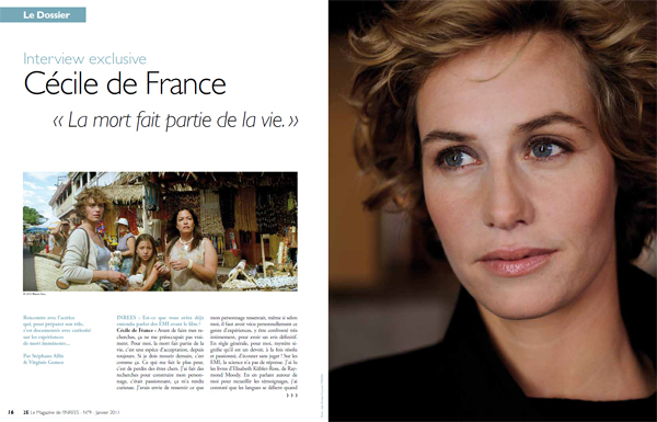 Interview exclusive de Cécile de France dans le magazine 2E n°8. Photo : Jean-Romain Pac.