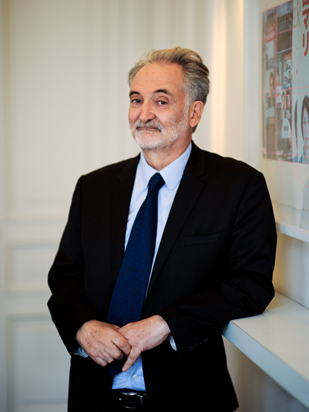 Portrait de Jacques Attali. Février 2012. Photo : Jean-Romain Pac.