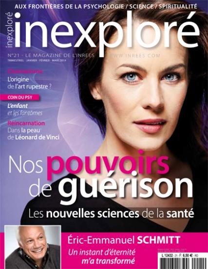 Couverture d'Inexploré n°21 / Janvier-Février-Mars 2014. Photo : Jean-Romain Pac.